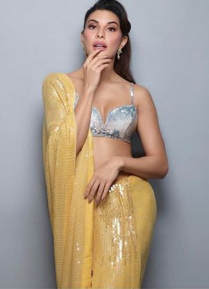 New Launching Superhit Designer Bamberg Georgette Yellow Bollywood Saree Collection