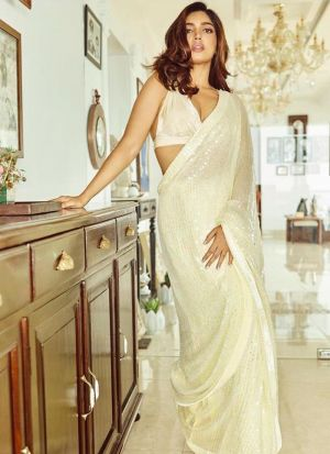 New Launching Superhit Designer White Bollywood Saree Collection