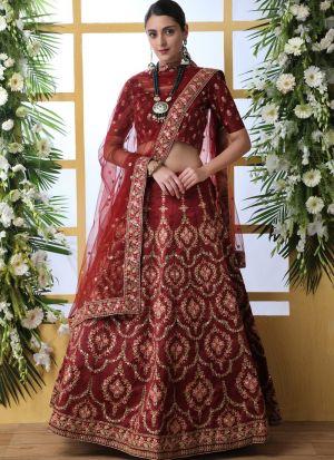 New Maroon Arrival Elegant Look Art Silk Lehenga Choli