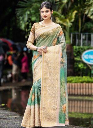 New Presenting Rama Digital Printed Saree