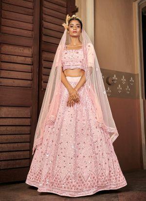 Newly Added Pink Georgette Lehenga Choli