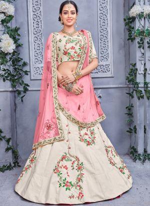 Off White Designer Lehenga Choli For Wedding