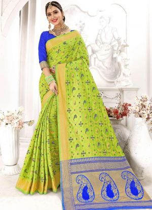 Patola Silk Parrot Party Wear Saree Collection