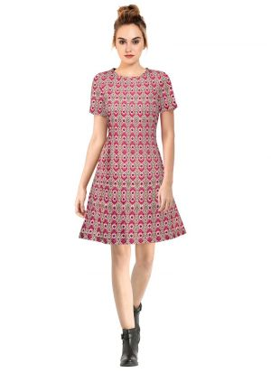 Pink Short Frock For Ladies