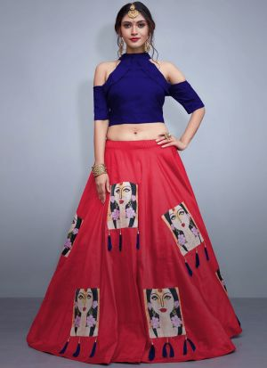 Pink Tafetta Silk Volume 8 Bride Maids Lehenga Choli