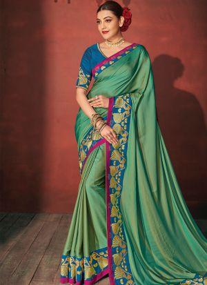 Pista Sana Silk Trendy Bollywood Style Saree
