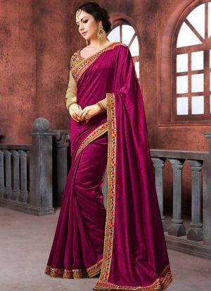 Prachi Desai Bollywood Repilca Purple Moss Chiffon Georgette Designer Saree