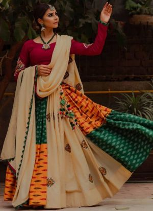 Presenting New Designer Navratri Special Multi Color Digital Printed Chaniya Choli
