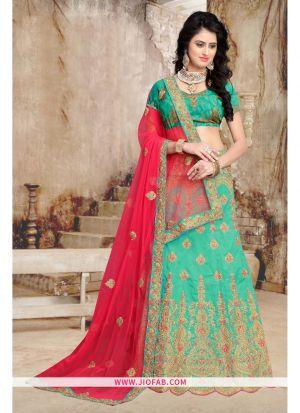 Rama Bridal Heavy Net Anarkali Lehenga