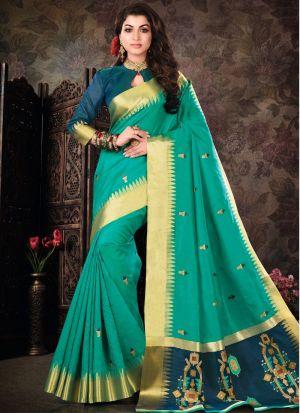 Rama Pure Crystal Silk Designer Traditional Saree Collection