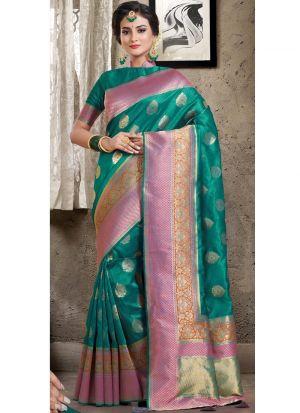 Rama South Indian Wedding Crystal Silk Saree
