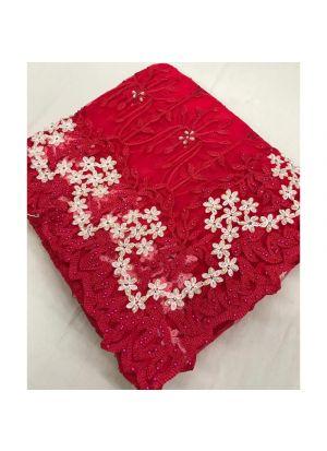 Rani Net Embroidered Stone Work Designer Traditional Saree