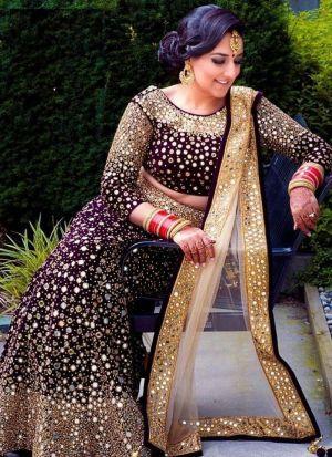 Real Mirror Work Wedding Lehenga Choli