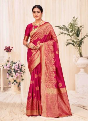 Red Banarasi Silk Weaving Saree