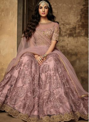 Sonal Chauhan Baby Pink Lehenga Choli