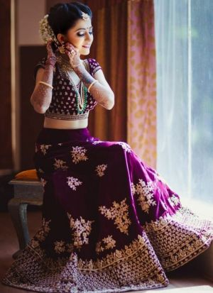 Splendid Magenta Lehenga For Wedding