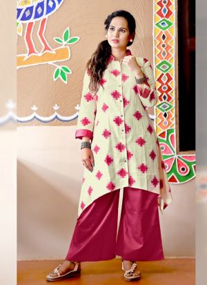 Stunning Pink Party Wear Palazzo Suit