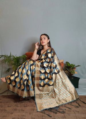 Stylish Multi Color Silk Saree