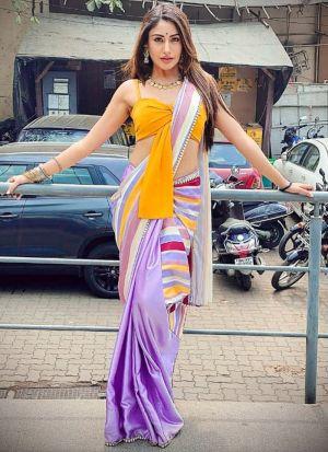 Surbhi Chandna Multi Color Printed Saree