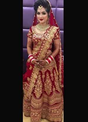 Tempting Maroon Bridal Lehenga Choli