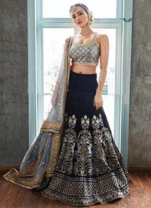 Wedding Wear Midnight Blue Lehenga Choli