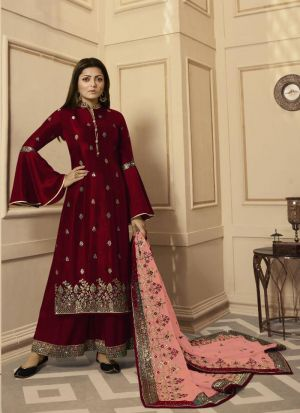 Wedding Wear Rangoli Embroidered Salwar Suit