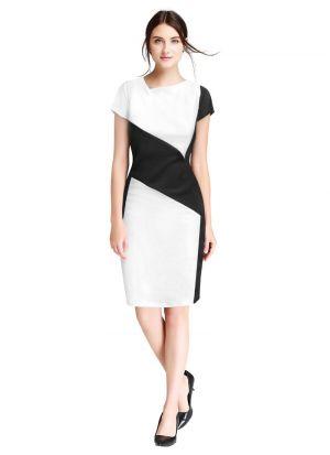 White V Neck Causal Wear Beautiful Short Dress