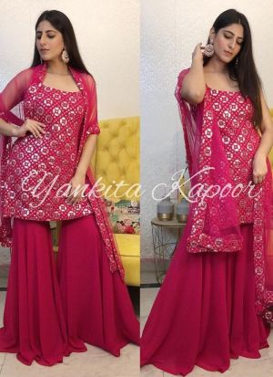 Yankita Kapoor Magenta Salwar Suit