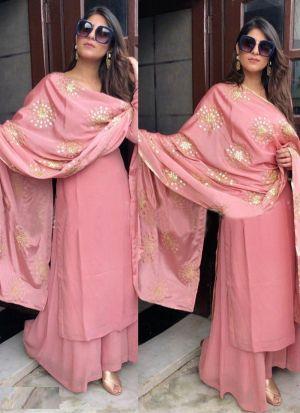 Yankita Kapoor Pink Faux Georgette Suit