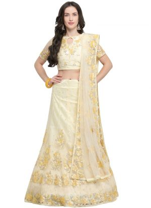 Yellow Designer Lehenga Choli For Wedding