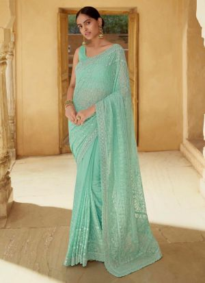 Admirable Georgette Sequence Work Saree