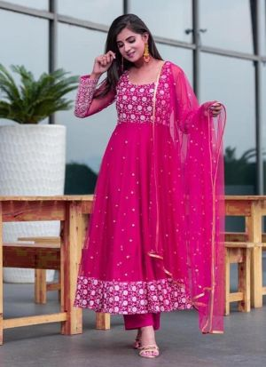 Adorable Pink Embroidered Suit