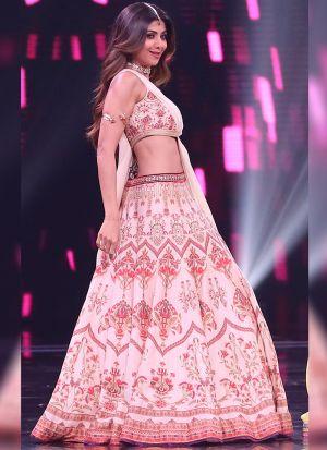 Adoring Light Pink Digital Printed Bollywood Style Lehenga Choli