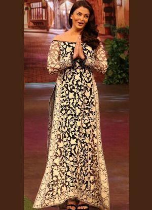 Aishwarya Rai White Georgette Suit