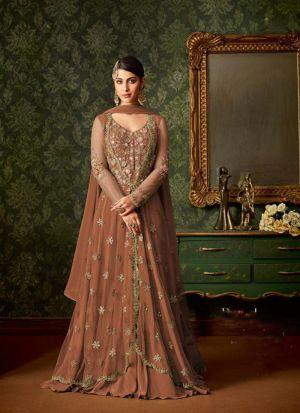 Appealing Heavy Net Sequence Work Salwar Suit