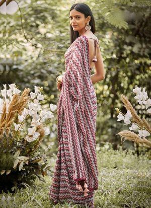 Attractive Multi Color 60 Gm Georgette Embroidery Saree