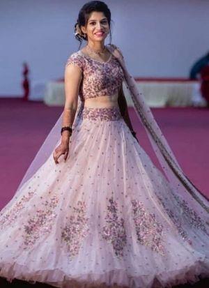 Baby Pink Net Exotic Lehenga Choli