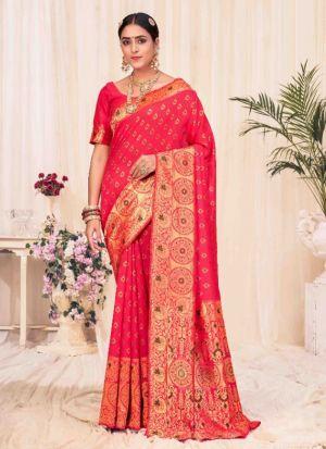 Banarasi Silk Weaving Work Saree