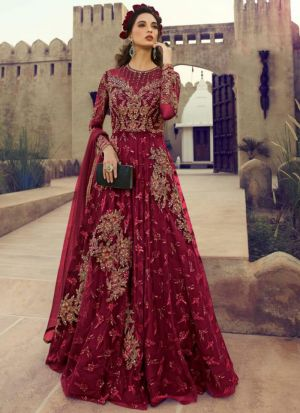 Beautiful Embroidered Reception Wear Anarkali Suit