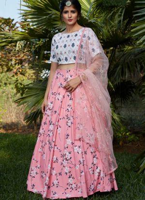 Beautiful Pink Printed Lehenga Choli