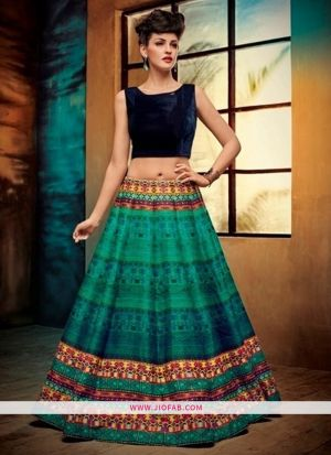Benglori Silk Light Green Anarkali Lehenga And Chaniya Choli