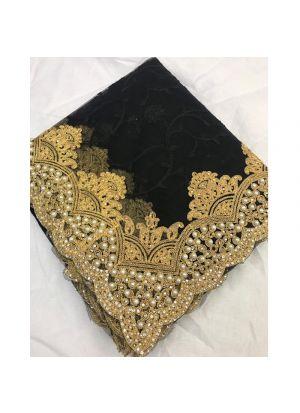 Black Banglori Silk Festive Wear Traditional Saree With Heavy Embroidery Zari Work