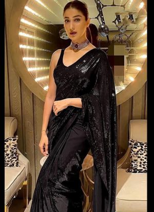 Black Georgette Designer Saree