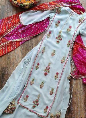 Blooming Sky Blue Desginer Party Wear Salwar Suit