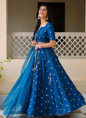 Blue Embroidery Work Lehenga Choli