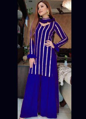 Blue Georgette Designer Salwar Suit