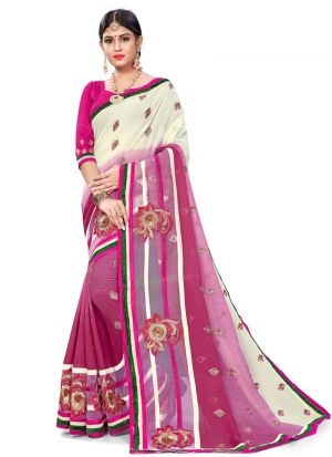 Bold And Gorgeous Multi Color Bemberg Saree