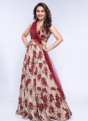 Bollywood Style Mauve Digital Printed Lehenga Choli