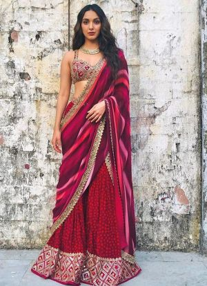 Bollywood Stylish Maroon Digital Printed Palazzo Suit