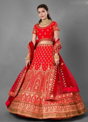 Bridal Special Red Thread Work Lehenga Choli